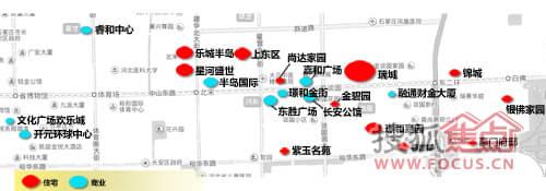 石家庄长安区中山路板块楼盘分布图