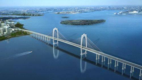 海大桥)正式启动建设,开展连接线清表