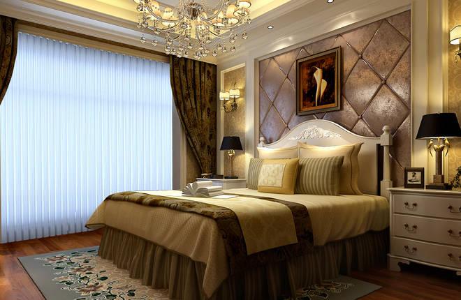【客户信息】三口居住,业主是做服装生意的中年人,喜欢简欧风格的设计。 【客户要求】要求格局拆改合适,空间没有浪费的地方,客厅卧室布置合理,简约欧式,简约不简单。 【设计说明】 客厅:铺地砖,背景墙用石石膏线和石材罗马柱搭配体现出欧式的感觉。 卧室:欧式大床通过完美的曲线、精益求精的细节处理,带给人舒适的视觉感。卧室背景彩用软包的效果体现出主人的生活品味。 色调:空间以暖色调为主,配合深浅的软饰品,让整个居室更富有层次感.