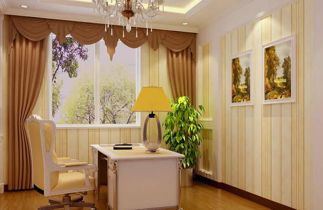 客厅背景墙用软木和白色木框做造型,加上玻璃,壁纸及壁灯的衬托作为客