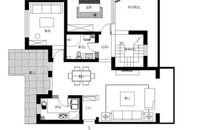 项目名称:通州台湖自建房 设计风格:中式古典 设计单位:实创装饰集团