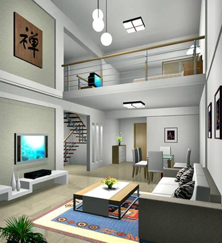 3米净空精装修小户型,6层为5米复式精装修跃层公寓.