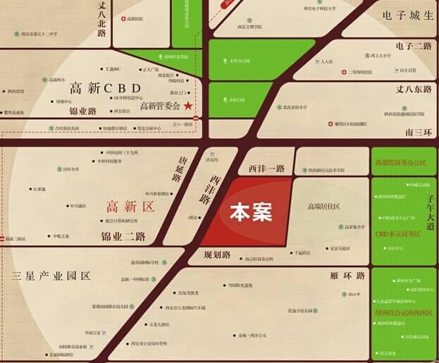 西安地图手绘板