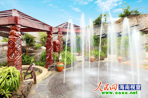 中心喷泉效果图手绘