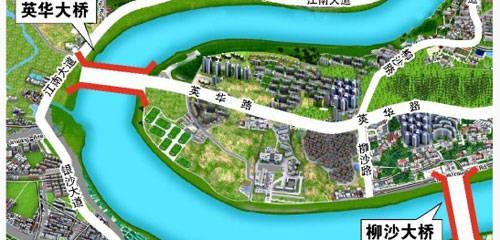 柳沙半岛处于连接商务区,五象新区,老城市中心合围处,在柳沙路,英华路
