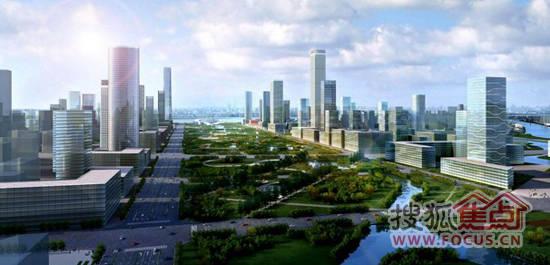 浦口新城中央绿轴区域效果图-江北新区规划年底报批 浦口绿轴区或晋