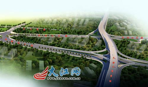 九洲大道高架快速路效果图-南昌首条高架快速路和象湖隧道开工