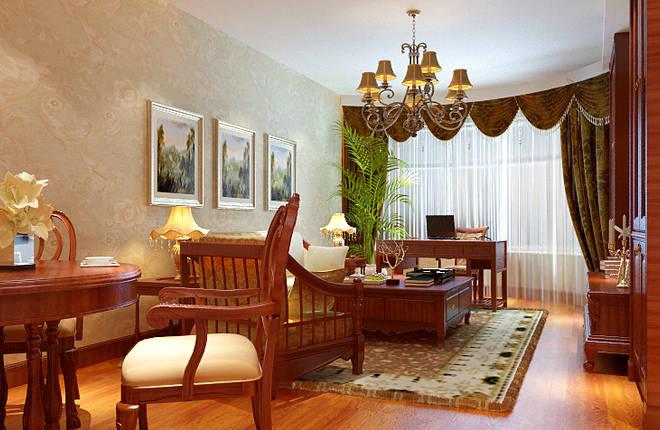 罗马花园100平米二居客厅装修设计图片