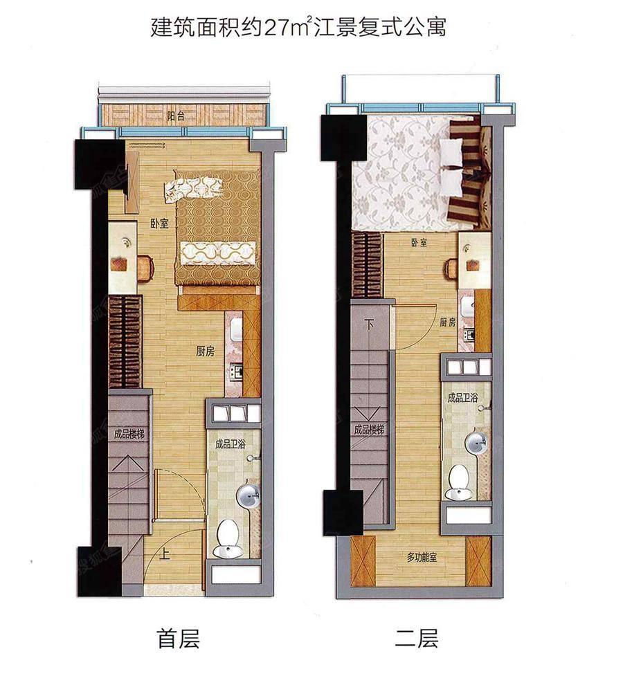 两层70平方房子设计图