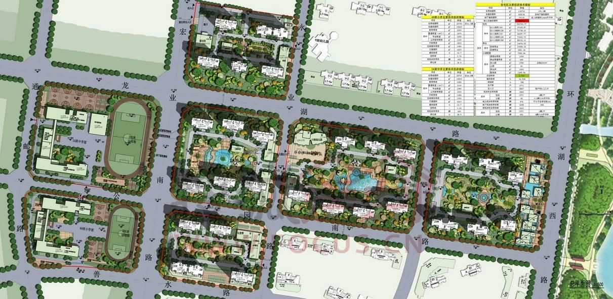 蚌埠海亮天御最新住宅小区规划总平面图出台