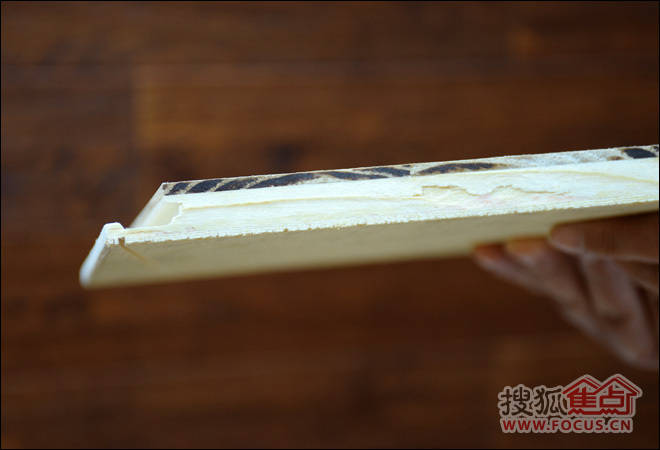 圣象地板实木复合地板横截面