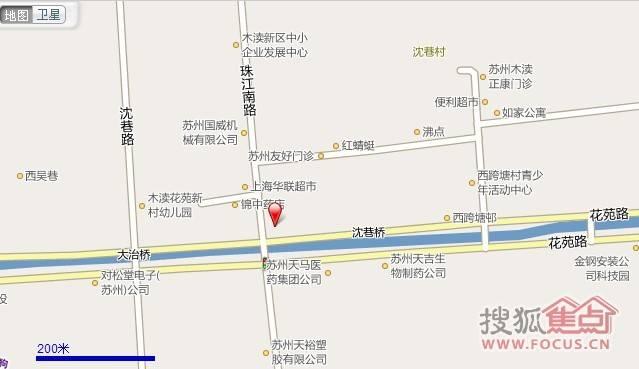 苏州吴中区木渎镇珠江路图