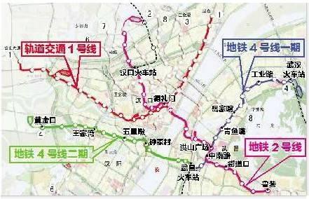 武汉地铁4号线全线动工 属第二条穿长江地铁图片