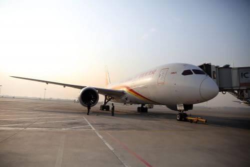 """呼和浩特机场迎来""""梦想b787""""宽体客机时代"""