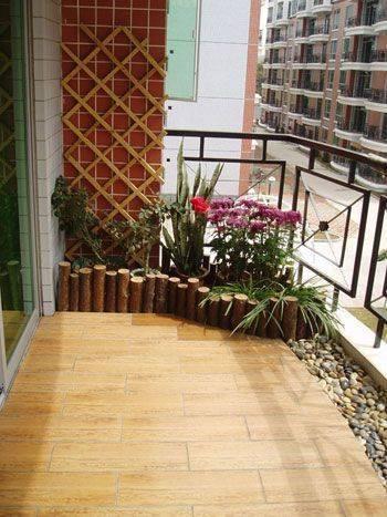 阳台1平米的设计 清茶 读物 躺椅=放松人生