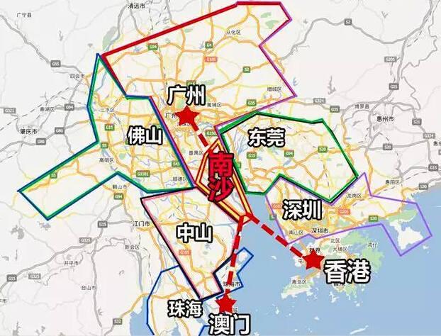 广州南沙自贸区规划图_南沙自贸区规划图