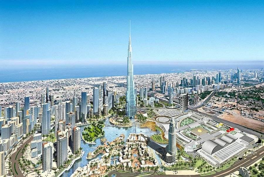 迪拜的风景描绘