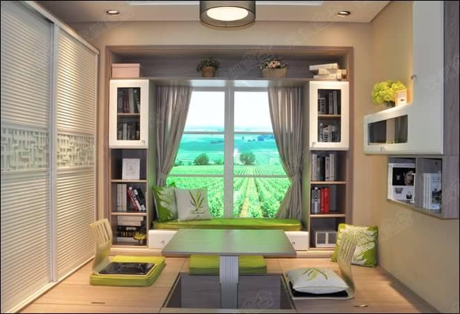 诗尼曼衣柜榻榻米系列内涵盖床,书柜,衣柜,升降桌以及巨大的储物空间
