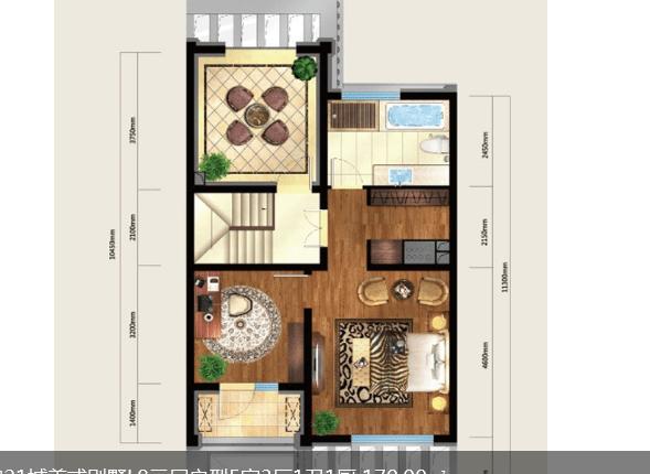 绿地国宝21城170平米别墅卧室装修设计图片