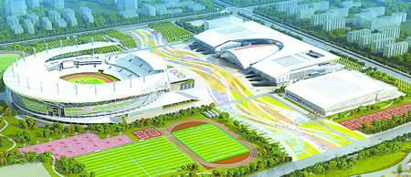 曝正定新区河北奥体中心规划图:周边建影城商场