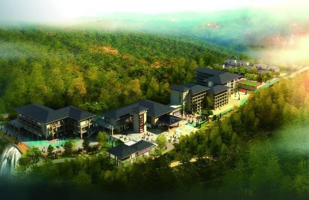 重庆金佛山豪生度假酒店位于重庆市南川区金佛山风景区,三条自然小溪
