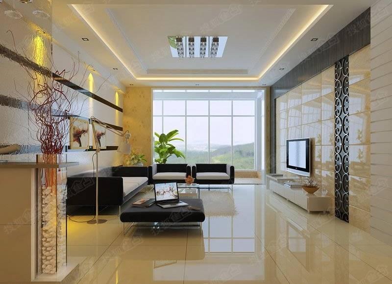 客厅地砖瓷砖铺贴装修效果图 打造靓丽生活空间