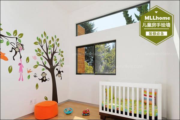 儿童房 手绘墙画效果图