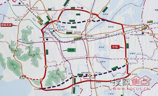 浒墅关板块在受中环快速路的带动之外,还有沪宁高铁苏州新区站坐镇
